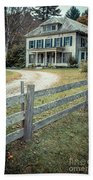 The Old House On The Hill  Beach Towel