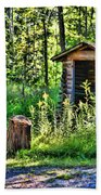 The Old Shed Beach Towel by Cathy  Beharriell
