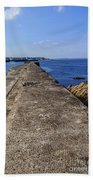 The Old Shipyard Pier Beach Towel