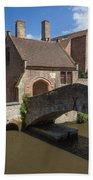 The Old Stone Bridge In Bruges Beach Towel