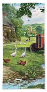 The Old Tractor Beach Towel by Steve Crisp