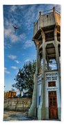 The Old Water Tower Of Tel Aviv Beach Sheet