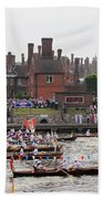 The Olympic Torch Leaves Hampton Court On The Final Leg Of Its J Beach Towel