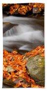 The Orange Stream Beach Towel