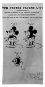 The Original Mickey Mouse Patent Design Beach Towel