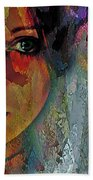 The Other Left Abstract Portrait Beach Towel