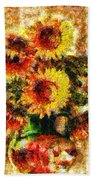The Other Sunflowers Beach Towel