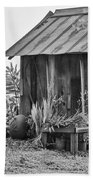 The Outhouse Bw Beach Towel