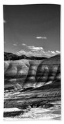 The Painted Hills Bw Beach Towel