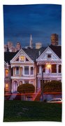 The Painted Ladies Of San Francsico Beach Towel