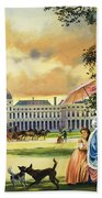 The Palace Of The Tuileries Beach Towel by Andrew Howat