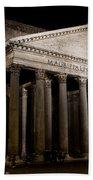 The Pantheon At Night Beach Towel