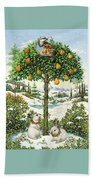 The Partridge In A Pear Tree Beach Towel