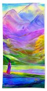 Misty Mountains, Fall Color And Aspens Beach Towel