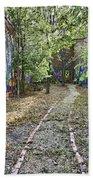 The Path Of Graffiti Beach Towel