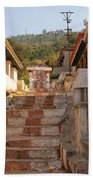 The Path To The Temple Beach Towel