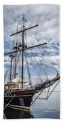 The Peacemaker Tall Ship Beach Towel by Dale Kincaid