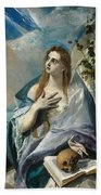 The Penitent Mary Magdalene Beach Towel