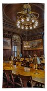 The Periodical Room At The New York Public Library Beach Towel