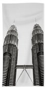 The Petronas Towers Malaysia Beach Towel