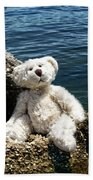 The Philosopher - Teddy Bear Art By William Patrick And Sharon Cummings Beach Towel by Sharon Cummings