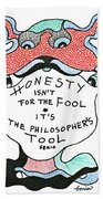 The Philosophers Tool Beach Towel