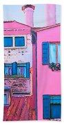 The Pink House Beach Towel