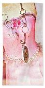 The Pink Tutu Dress With The Fleur De Lis Beach Towel