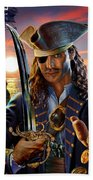 The Pirate Beach Towel by Adrian Chesterman