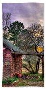 The Play House At Sunset Near Lake Oconee. Beach Towel by Reid Callaway