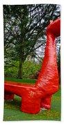 The Playful Dinosaur  Beach Towel