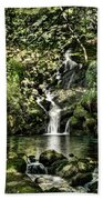 The Pond And The Forest Waterfall Beach Towel