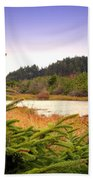 The Pond In The Forest Beach Towel