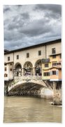 The Ponte Vecchio In Florence Beach Towel