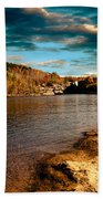 The Pool Below Upper Falls Rumford Maine Beach Towel by Bob Orsillo