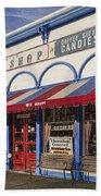 The Popcorn Shop Beach Towel by Dale Kincaid