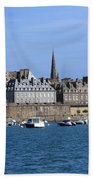 The Port Of St Malo France Beach Towel