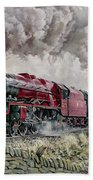 The Princess Elizabeth Storms North In All Weathers Beach Towel