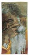 The Prophet Jeremiah Beach Towel by Michelangelo
