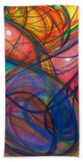 The Pulse Of The Heart Lies Strong Beach Sheet by Daina White