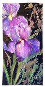 The Purple Iris Beach Towel