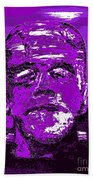 The Purple Monster Beach Towel