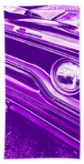 The Purple People Eater - 1970 Plymouth Gtx Beach Towel