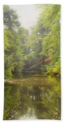 The Quiet River Beach Towel