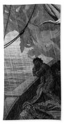 The Rain Begins To Fall Beach Towel by Gustave Dore