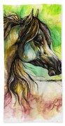 The Rainbow Colored Arabian Horse Beach Towel