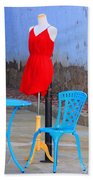 The Red Dress Lunch Special Beach Towel