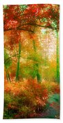 The Red Forest Beach Towel