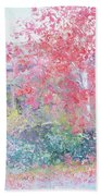 The Red Japanese Maple Tree Beach Towel