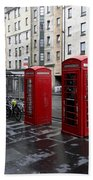 The Red Phone Booth Beach Towel